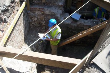 Archaeological excavation, London, 2004