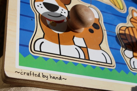 Crafted by hand childs puzzle