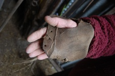 Thatcher's handpad from old shoe
